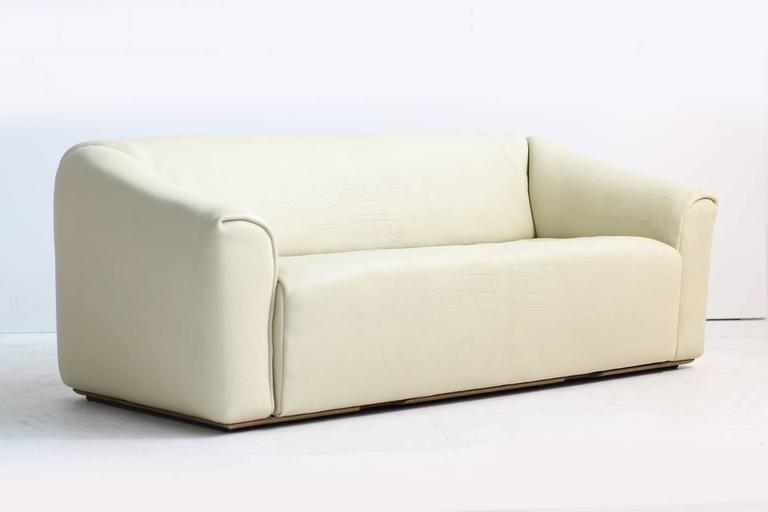 Beautiful three-seat buffalo leather Sofa by De Sede, Mod. DS 47