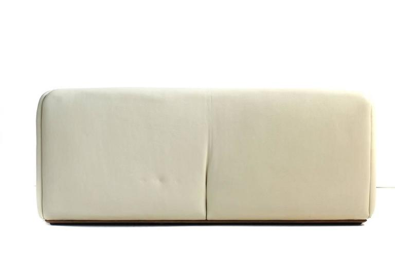 1970s De Sede DS 47 Buffalo Leather Lounge Sofa with Extendable Seat Ecru no. 2 In Excellent Condition For Sale In Hamminkeln, DE