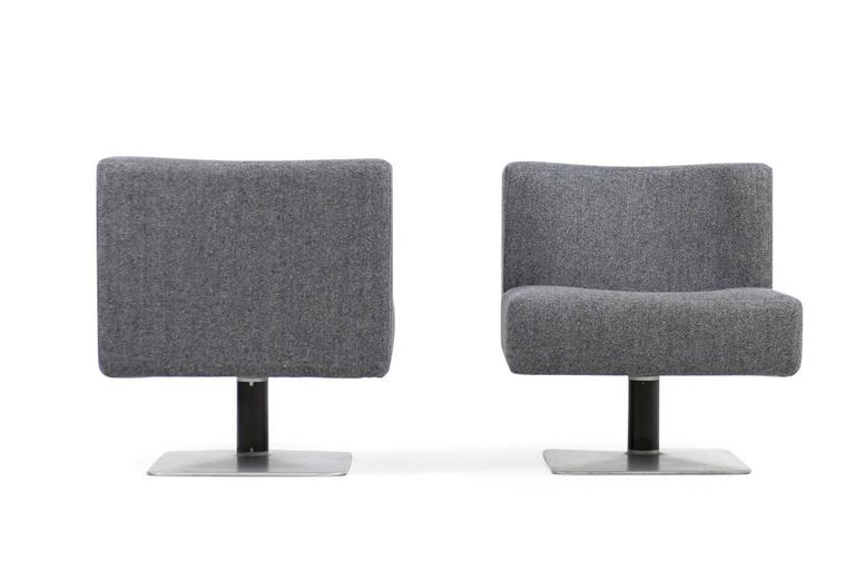 Modern Pair of 1970s Modular Lounge Chairs Herbert Hirche for Mauser, Germany, 1974