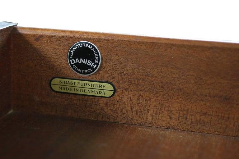 Wundervolles 1960er Arne Vodder Rosenholz Sideboard Modell 29a für Sibast Dänisch Modern 9