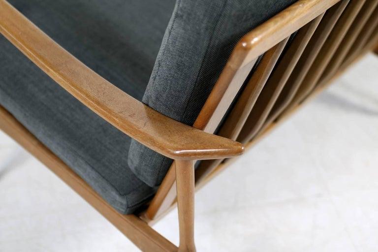 1950s Italian Organic Lounge Sofa Beechwood Mid-Century Modern, New Upholstery For Sale 1