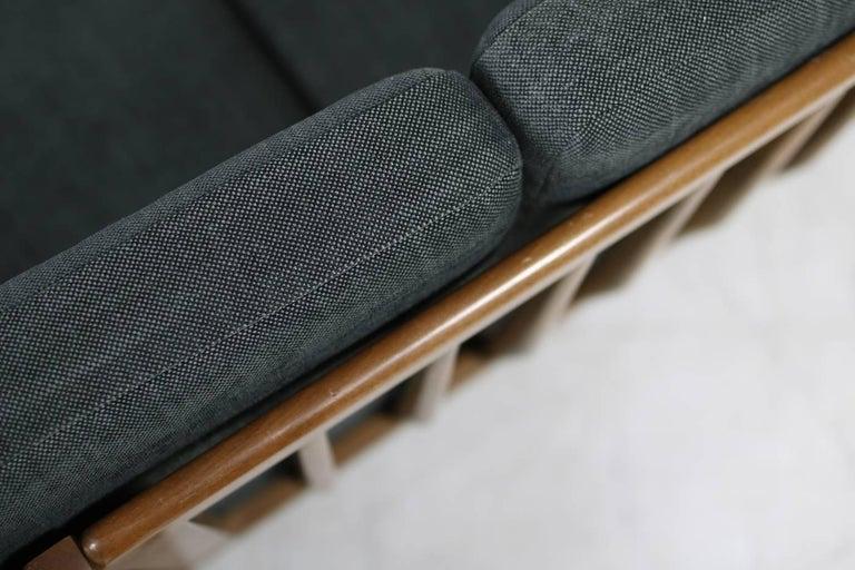 1950s Italian Organic Lounge Sofa Beechwood Mid-Century Modern, New Upholstery For Sale 3