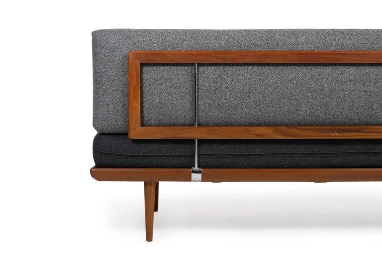 Mid-20th Century 1960s Danish Teak Daybed Peter Hvidt & Orla Mølgaard Nielsen Sofa New Upholstery For Sale