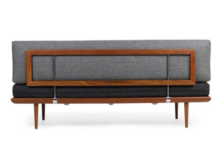 Mid-Century Modern 1960s Danish Teak Daybed Peter Hvidt & Orla Mølgaard Nielsen Sofa New Upholstery For Sale