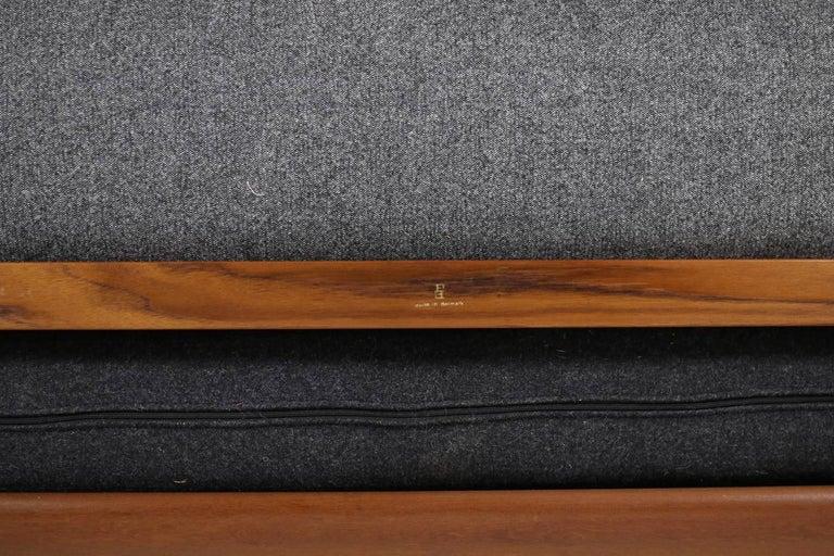 Fabric 1960s Danish Teak Daybed Peter Hvidt & Orla Mølgaard Nielsen Sofa New Upholstery For Sale