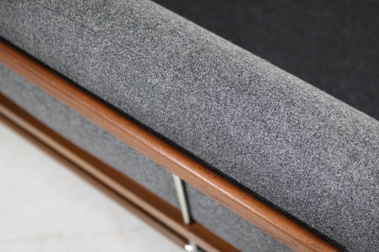 1960s Danish Teak Daybed Peter Hvidt & Orla Mølgaard Nielsen Sofa New Upholstery For Sale 2