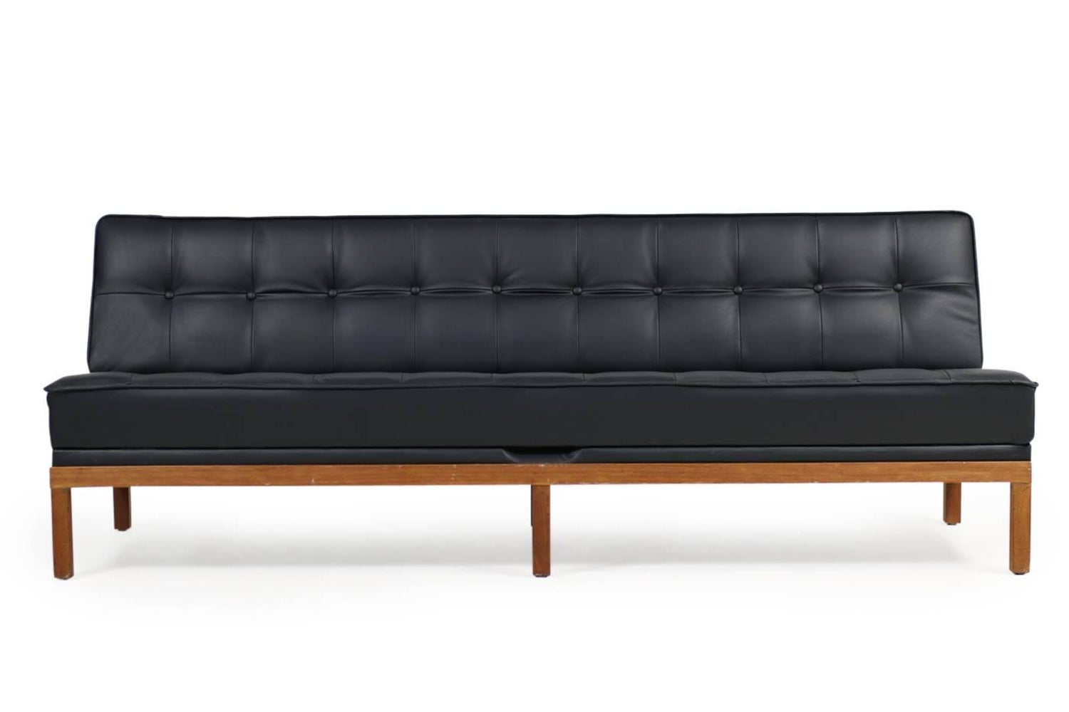1960s Daybed By Johannes Spalt Mod Constanze For Wittmann Teak And Leather Sofa At 1stdibs
