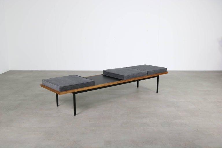 Nathan Lindberg Design Teak and Metal Minimalist Modular Bench Mod ...