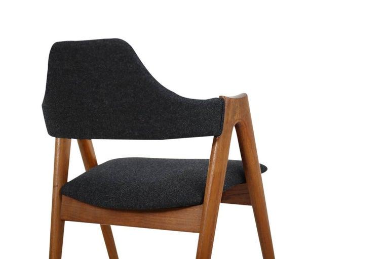 Sechs Kai Kristiansen Esszimmerstühle aus Teak Model Compass SVA Møbler, 1960er 7