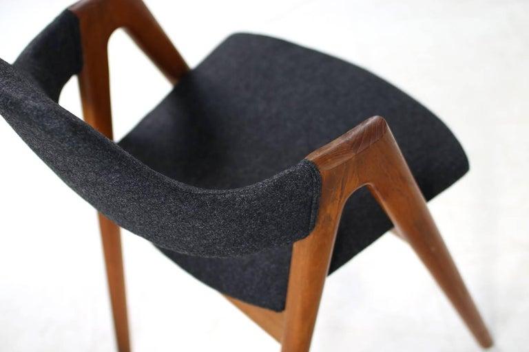 Sechs Kai Kristiansen Esszimmerstühle aus Teak Model Compass SVA Møbler, 1960er 8