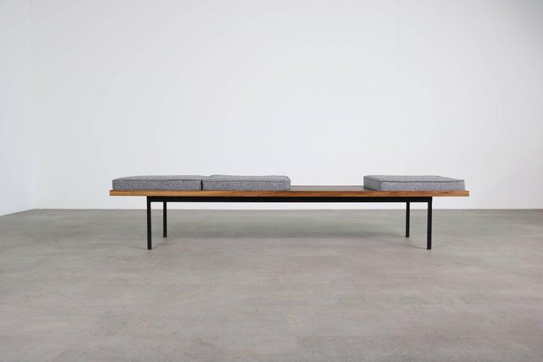 Nathan Lindberg Design Teak and Metal Modernist Modular Bench Mod ...