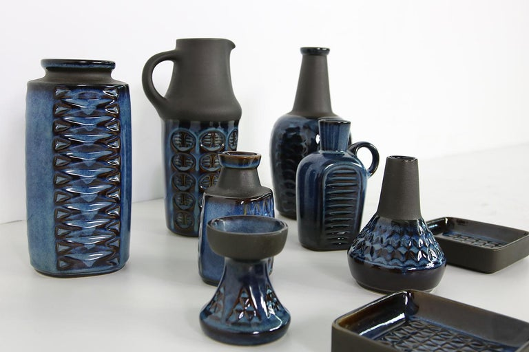 Mid-Century Modern Collection of Midcentury Ceramics Vases & Bowls Einar Johansen for Soholm, 1960s For Sale