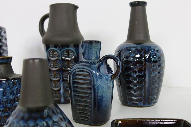 Danish Collection of Midcentury Ceramics Vases & Bowls Einar Johansen for Soholm, 1960s For Sale