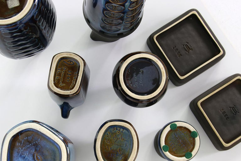 Collection of Midcentury Ceramics Vases & Bowls Einar Johansen for Soholm, 1960s In Excellent Condition For Sale In Hamminkeln, DE