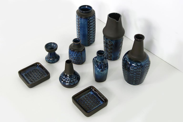 Mid-20th Century Collection of Midcentury Ceramics Vases & Bowls Einar Johansen for Soholm, 1960s For Sale