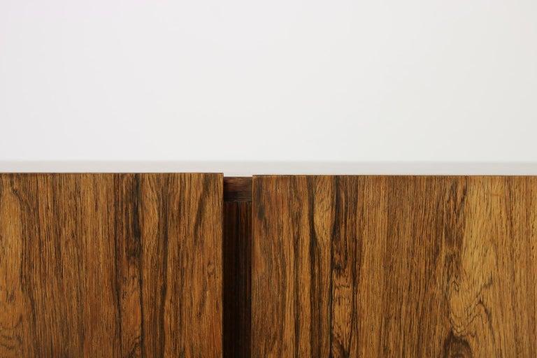 Mid-20th Century Rare 1960s Minimalist Sideboard on Metal Base, Drawers Inside Mid-Century Modern For Sale