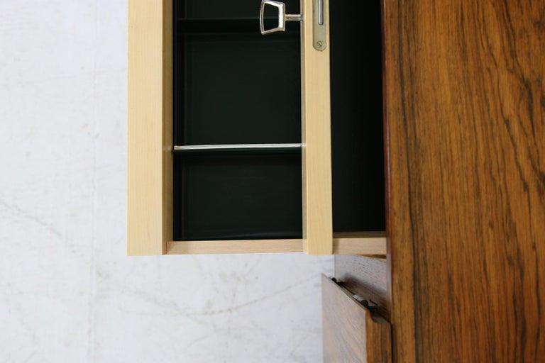 Rare 1960s Minimalist Sideboard on Metal Base, Drawers Inside Mid-Century Modern For Sale 3