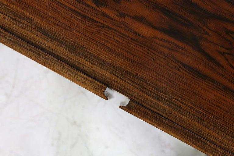 Rare 1960s Minimalist Sideboard on Metal Base, Drawers Inside Mid-Century Modern For Sale 5