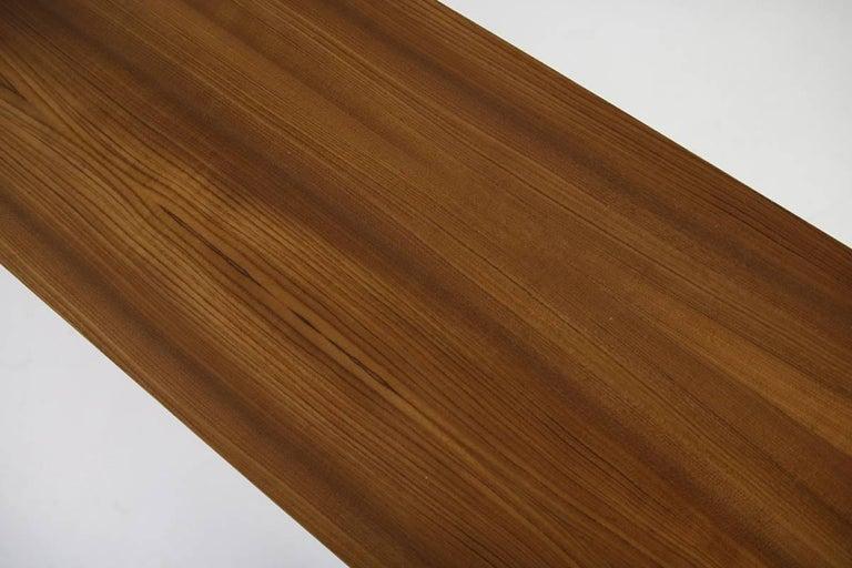 Stainless Steel Modern Teak Sideboard Nathan Lindberg Design, Model NL20 Black and White Doors For Sale