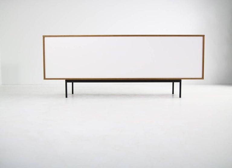 Modern Teak Sideboard Nathan Lindberg Design, Model NL20 Black and White Doors For Sale 1