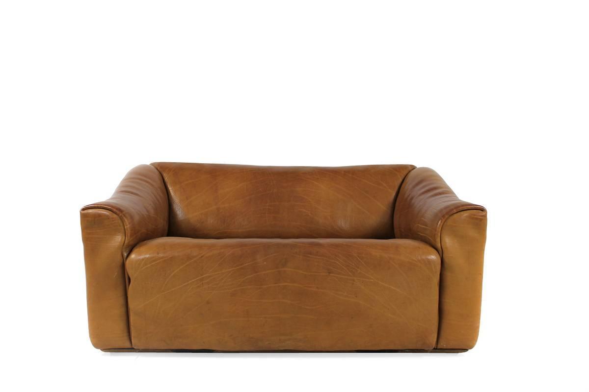1970s de sede ds 47 vintage buffalo leather cognac sofa no. Black Bedroom Furniture Sets. Home Design Ideas