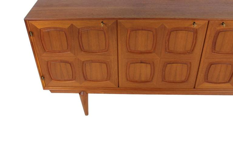 Rastad and Relling Teak Graphic Sideboard, Gustav Bahus, Norway, 1960s In Good Condition For Sale In Hamminkeln, DE