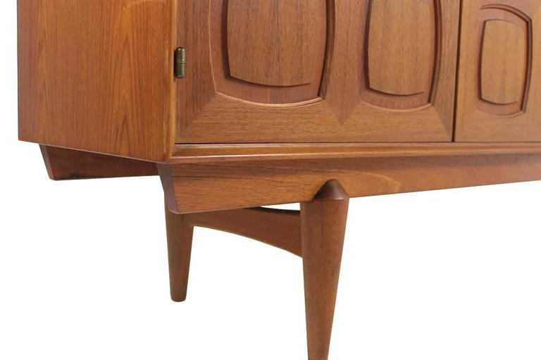 Mid-20th Century Rastad and Relling Teak Graphic Sideboard, Gustav Bahus, Norway, 1960s For Sale