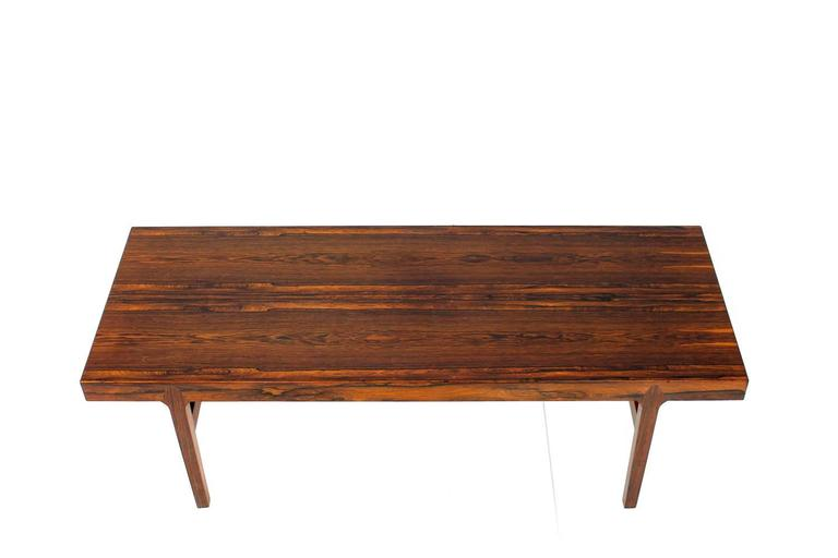 extendable rosewood coffee table 1960s haslev. Black Bedroom Furniture Sets. Home Design Ideas