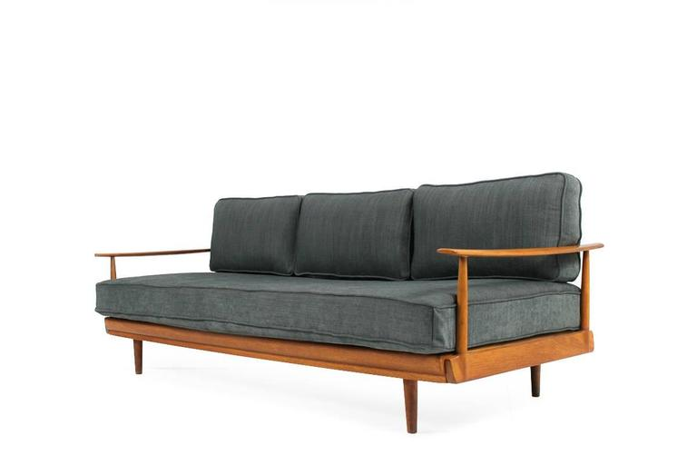 1960s teak daybed knoll antimott germany mid century for Sofa bed germany