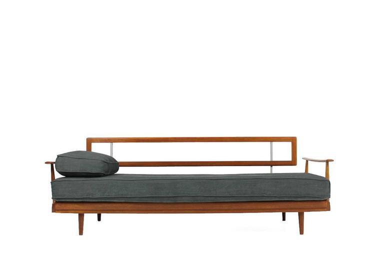 1960s teak daybed knoll antimott germany mid century modern sofa at 1stdibs. Black Bedroom Furniture Sets. Home Design Ideas