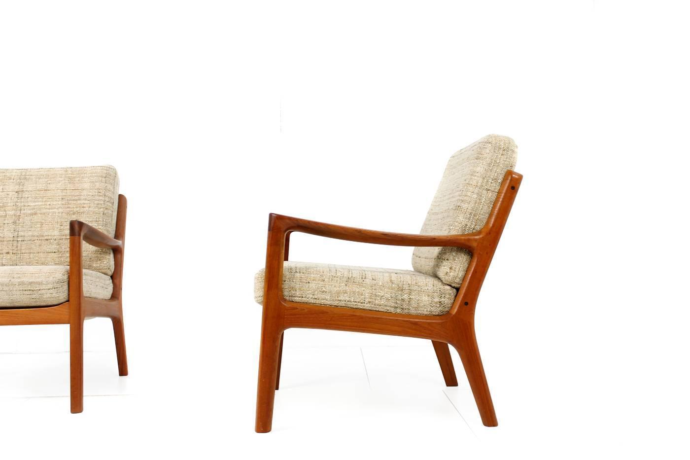 ... of Midcentury Ole Wanscher Danish Teak Easy Chairs, Denmark, 1960s