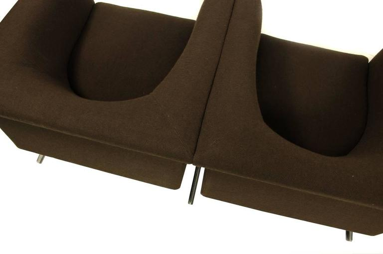 Fabric 1960s Sofa Mod. 630 by Geoffrey Harcourt for Artifort Modular Seating Metal Base For Sale