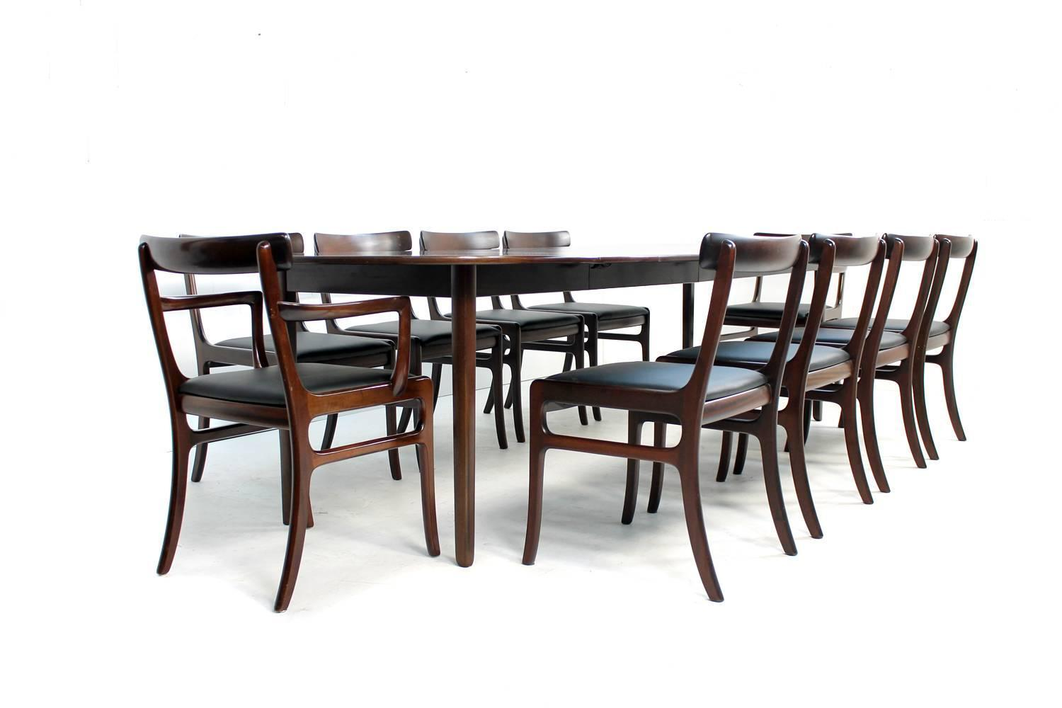 1960s ole wanscher dining room set rungstedlund table