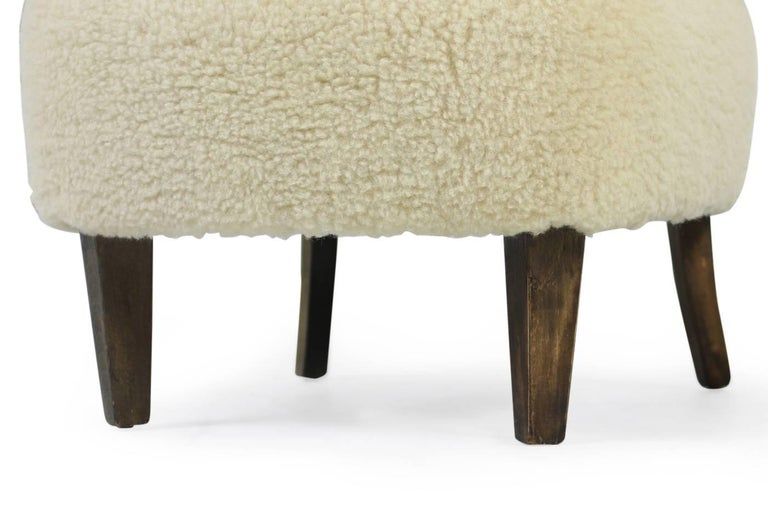 Pair of 1950s Otto Schultz Lounge Chairs Sheepskin & Leather, Mid-Century Modern 6
