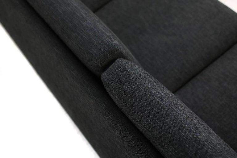 Leather 1960s Hans J. Wegner Sofa Mod. Ge 300 for GETAMA, Denmark, New Upholstery, Oak For Sale