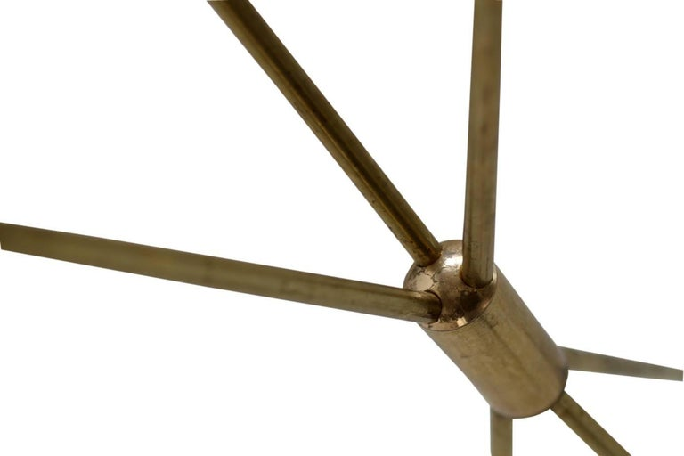 Amazing Italian Minimalist Adjustable Tripod Floor Lamp Brass in Stilnovo Style For Sale 2