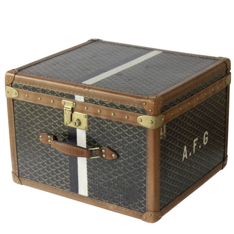 1920s Goyard Hat Box For Sale at 1stdibs 3492f429d01