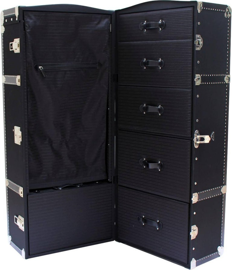 b57ebc71e71 Stunning black canvas Prada wardrobe. Complete with hanging space and  drawers to store all your