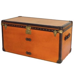 Striking Orange Louis Vuitton Courier Trunk, circa 1930s