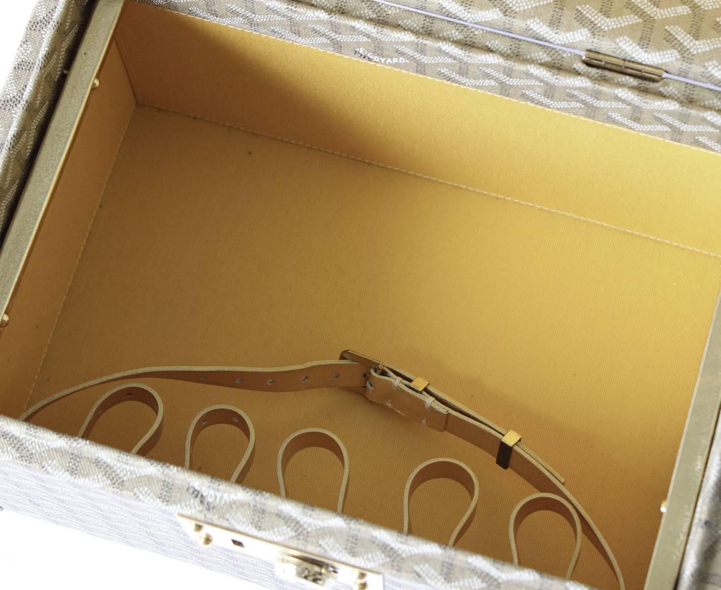 Goyard Gold Vanity Case For Sale at 1stdibs