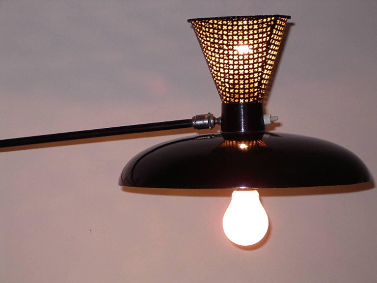 Italian Adjustable Wall Lamp in the Arredoluce Style, Milano, 1950s In Good Condition For Sale In Milano, IT
