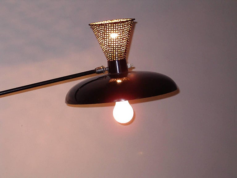 Mid-Century Modern Italian Adjustable Wall Lamp in the Arredoluce Style, Milano, 1950s For Sale