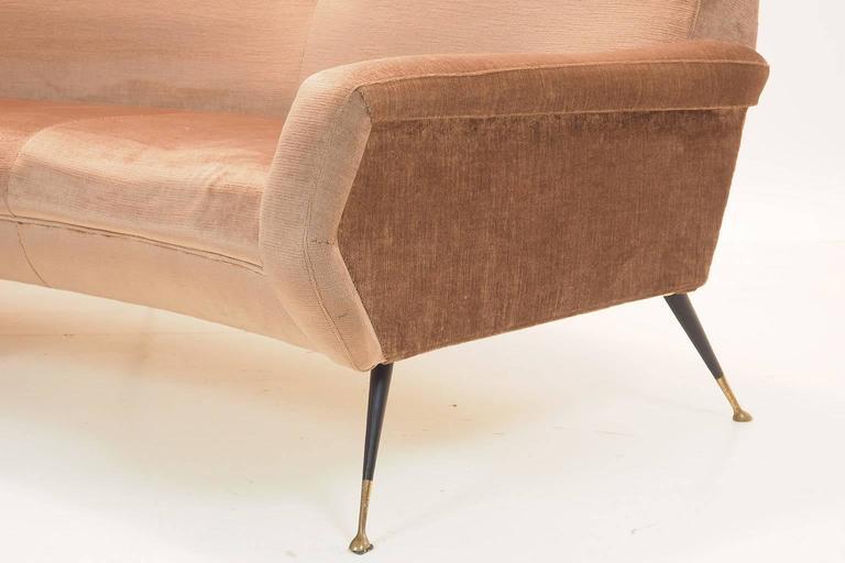 Italian Curved Sofa by Gigi Radice for Minotti, Milano, 1950s For Sale 2