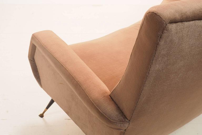 Italian Curved Sofa by Gigi Radice for Minotti, Milano, 1950s For Sale 3