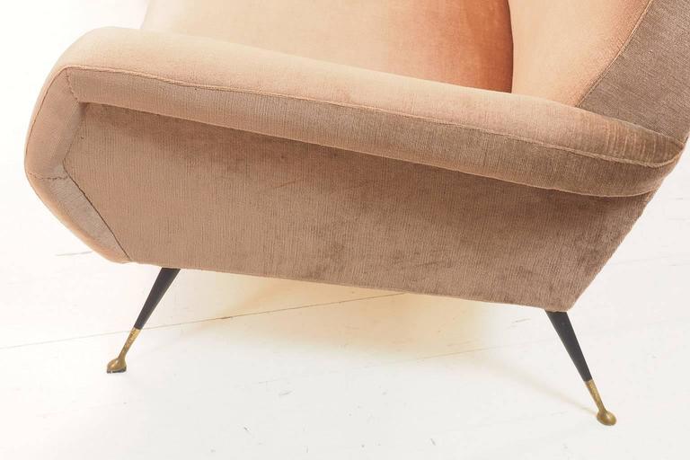 Italian Curved Sofa by Gigi Radice for Minotti, Milano, 1950s For Sale 4