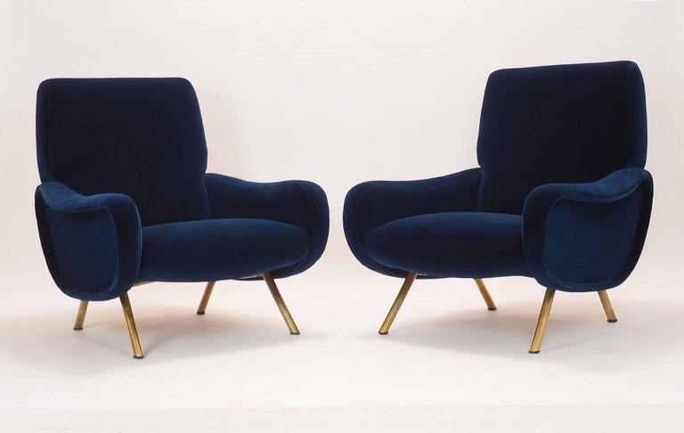 Italian Couple of Lounge Chairs Lady Designed by Marco Zanuso for Arflex Milano 4