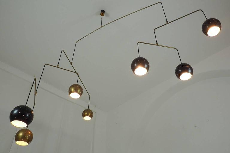 "Italian Large Poetic Mobile Chandelier  ""Magico E Meditativo"" Milano, XX c. 3"