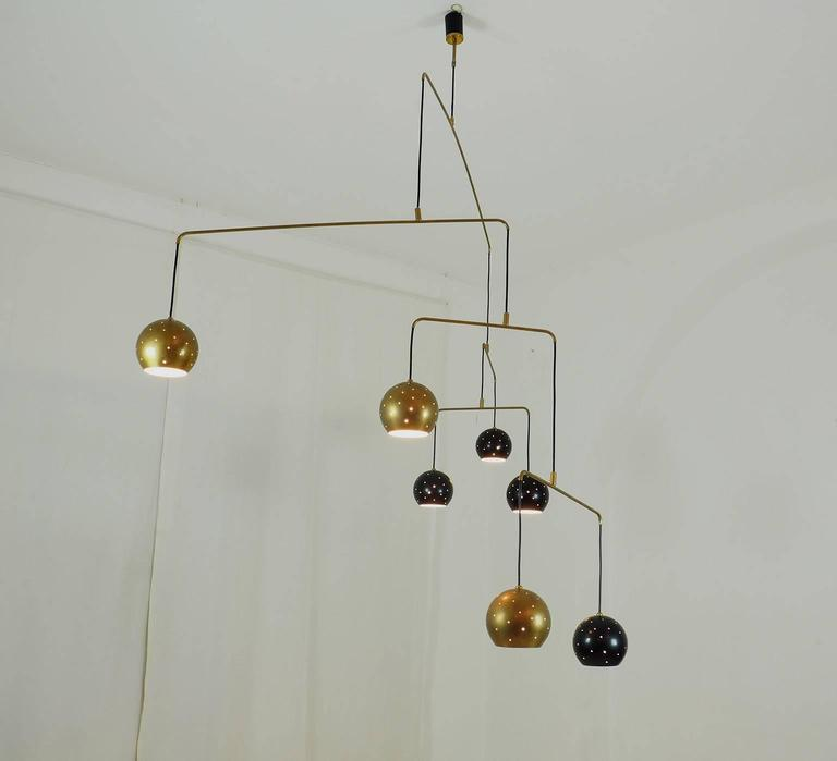"Italian Large Poetic Mobile Chandelier  ""Magico E Meditativo"" Milano, XX c. 5"