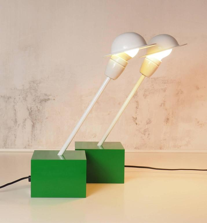 Pair of Table Lamps DON Designed by Ettore Sottsass for Stilnovo, Milano, 1973 2