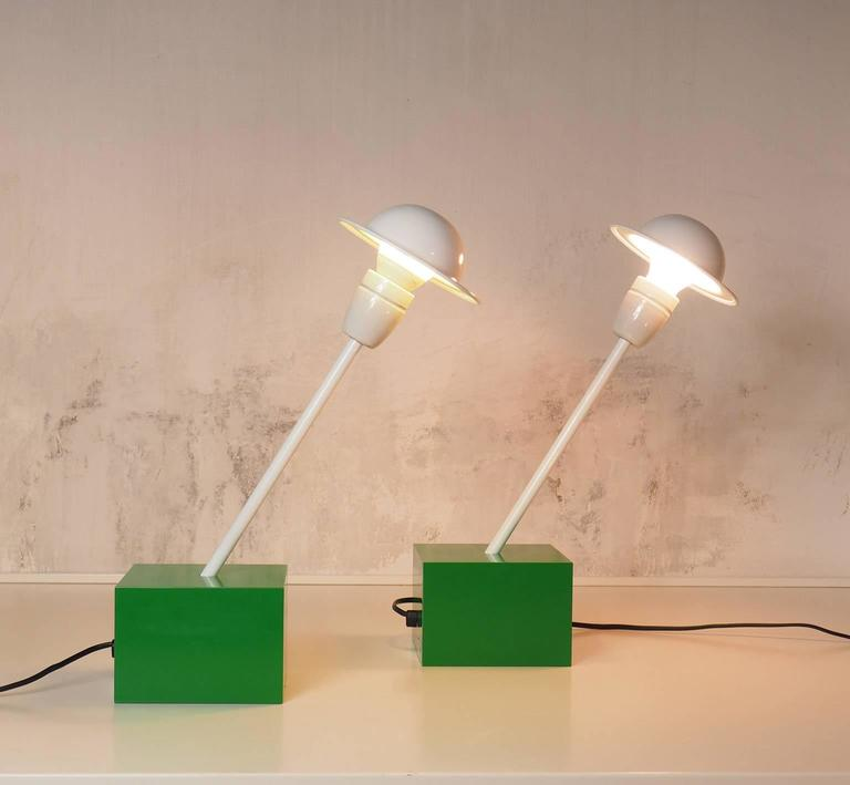 Pair of Table Lamps DON Designed by Ettore Sottsass for Stilnovo, Milano, 1973 3